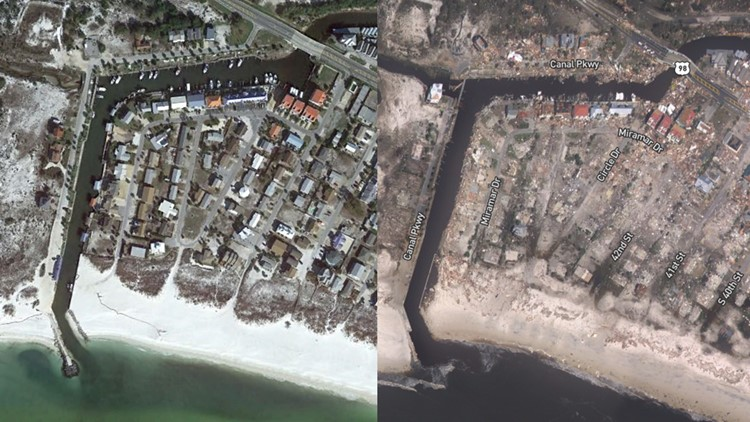 Mexico beach new before after 10 11 18
