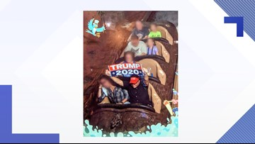 Man says he was wrongfully banned from Disney after holding 'Trump 2020' sign on Splash Mountain