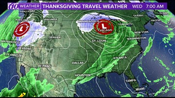 Thanksgiving weather forecast from coast to coast