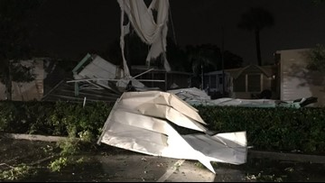 National Weather Service confirms a tornado touched down in Florida mobile home park