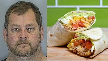 Florida man accused of smashing Taco Bell burritos in wife's face during argument
