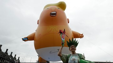 Protesters approved to fly 'Baby Trump' balloon during Trump's Fourth of July address on National Mall