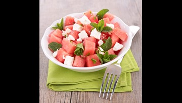 Refreshing watermelon summer salad