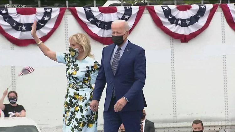 President Biden attends drive-in rally in metro Atlanta