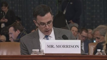 Tim Morrison gives opening statement in Trump impeachment hearing