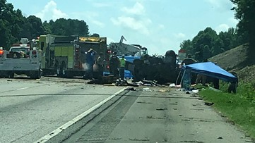7 dead after SUV crosses median on I-85 into oncoming traffic
