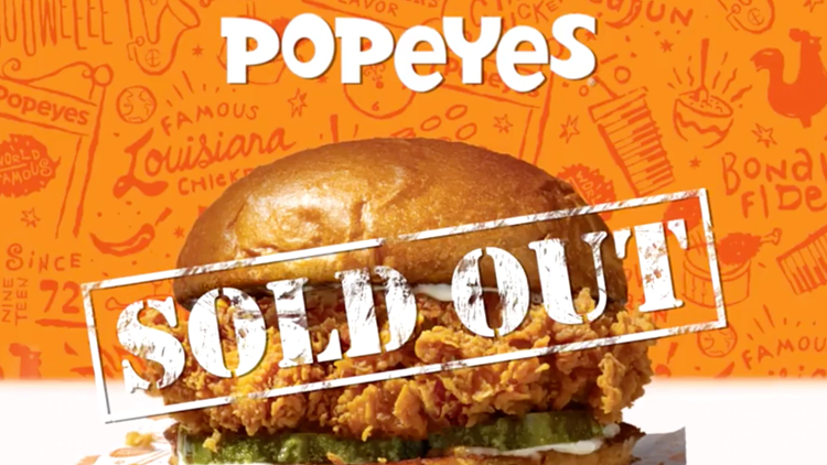 popeyes sandwich sold out