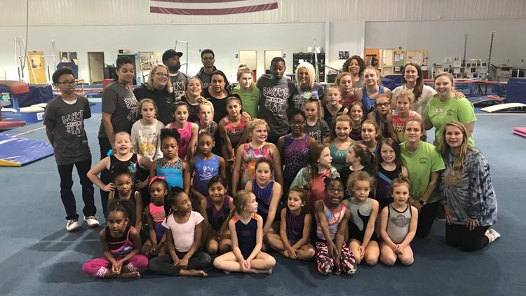 Dante Sipp and Carrollton Gymnastics team
